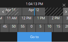 time picker on Investigate tab